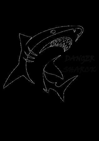 Hanorac Print Danger Sharck [1]