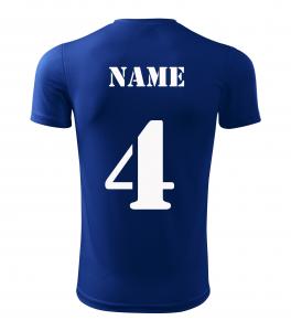 Tricou sport copii (Poliester 100%) Albastru3