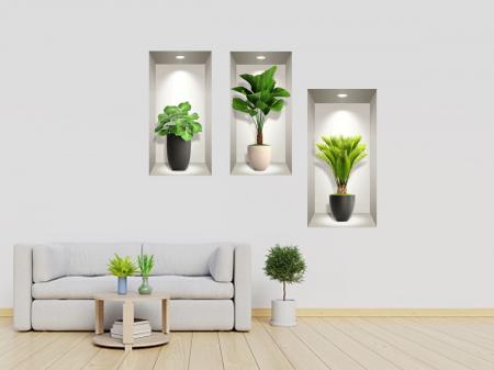 Sticker decorativ 3D Exotic Plants [0]