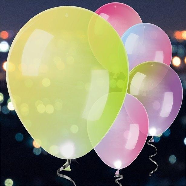 5 baloane cu aprindere LED, culori schimbatoare (27cm) 0
