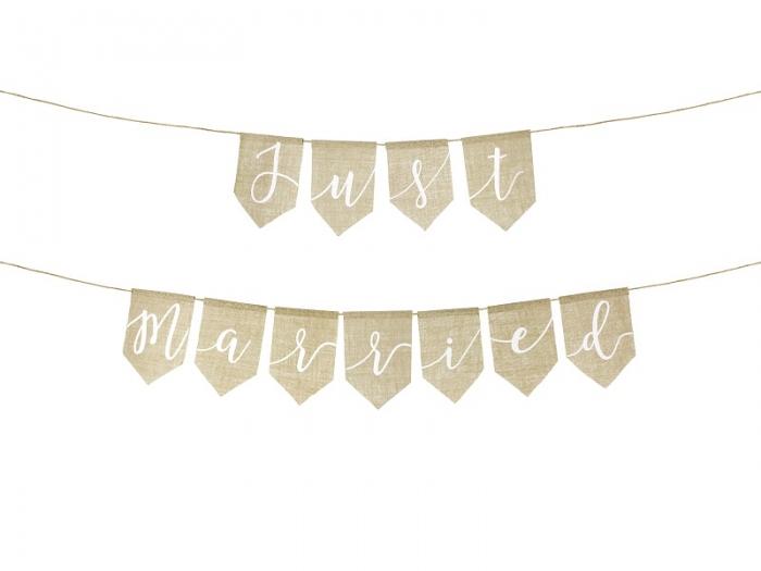 Banner JUST MARIED panza 1
