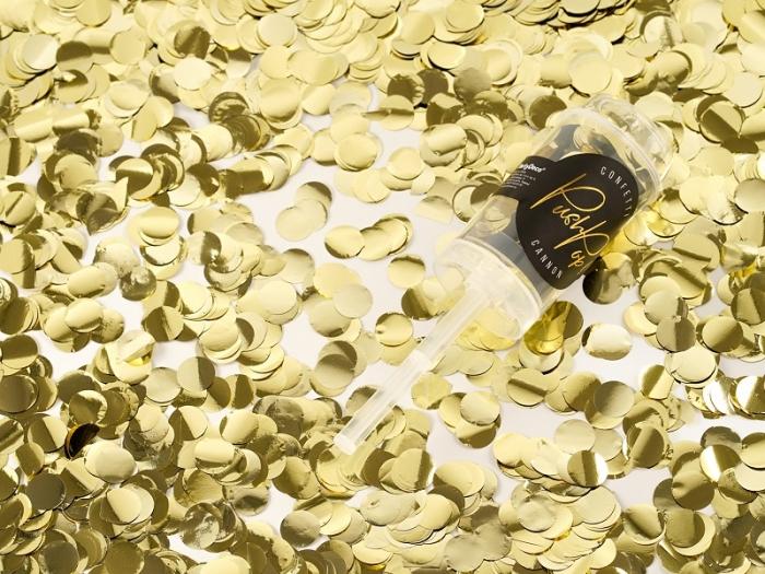 Confetti push pop, aurii 1