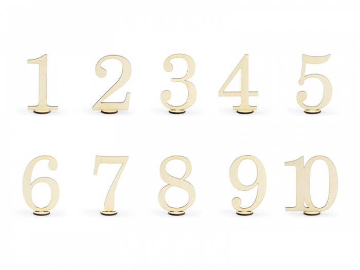 Numere masa din lemn, 10.5cm (1 pach/ 10 pc.) 2