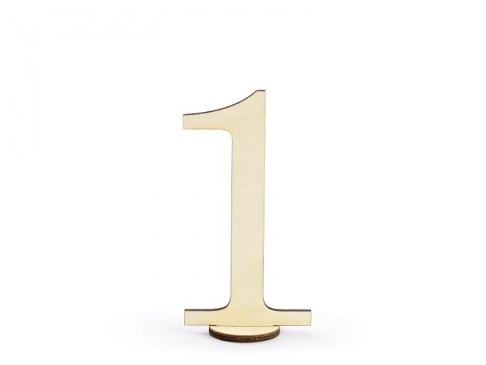 Numere masa din lemn, 10.5cm (1 pach/ 10 pc.) 3