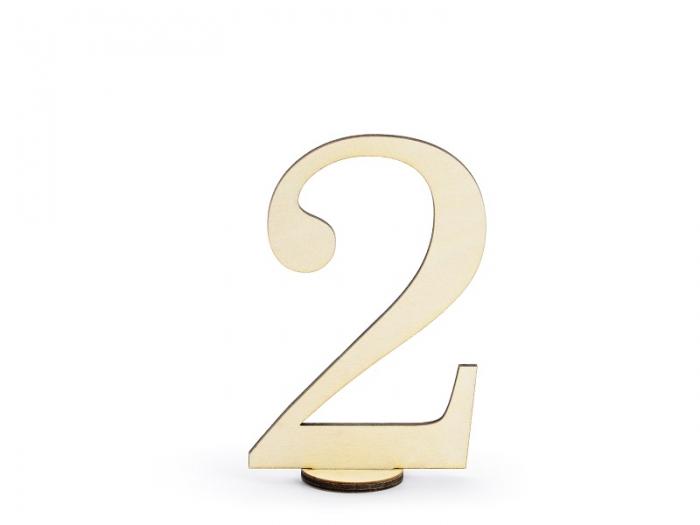 Numere masa din lemn, 10.5cm (1 pach/ 10 pc.) 4