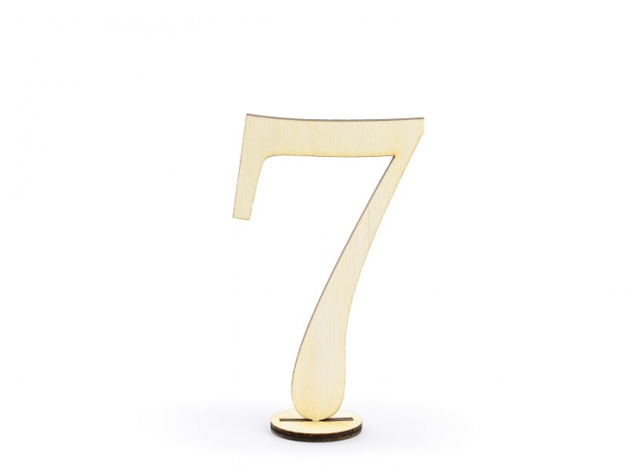 Numere masa din lemn, 10.5cm (1 pach/ 10 pc.) 9