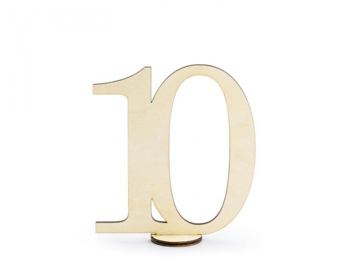 Numere masa din lemn, 10.5cm (1 pach/ 10 pc.) 12