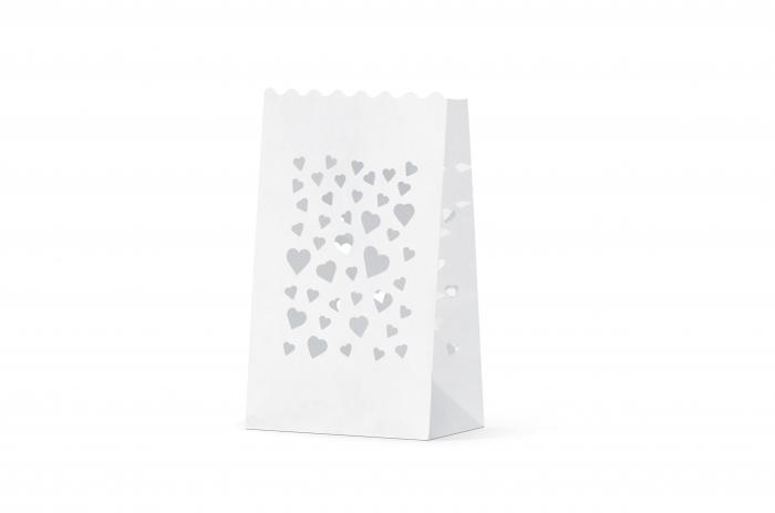 Lampioane lumanari Heart Spread, 11.5 x 7 x 19cm (1 pachet / 10 buc.) 3