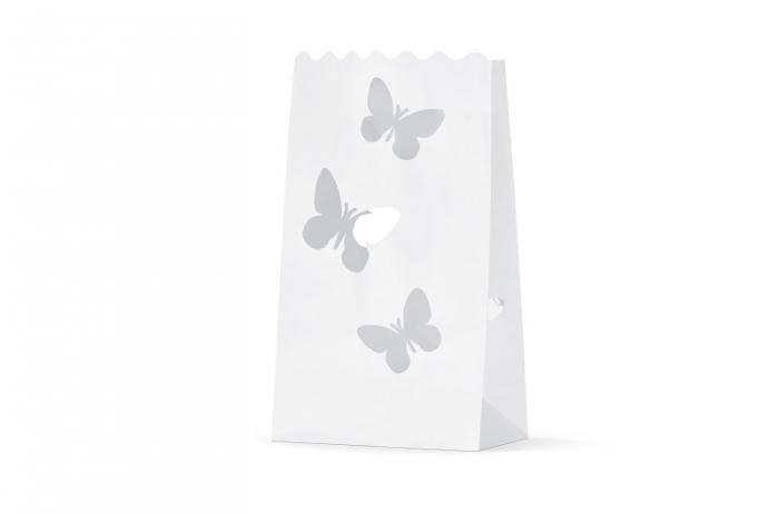 Lampioane lumanare, fluturasi, 15 x 9 x 26cm (1 pach / 10 buc) 2