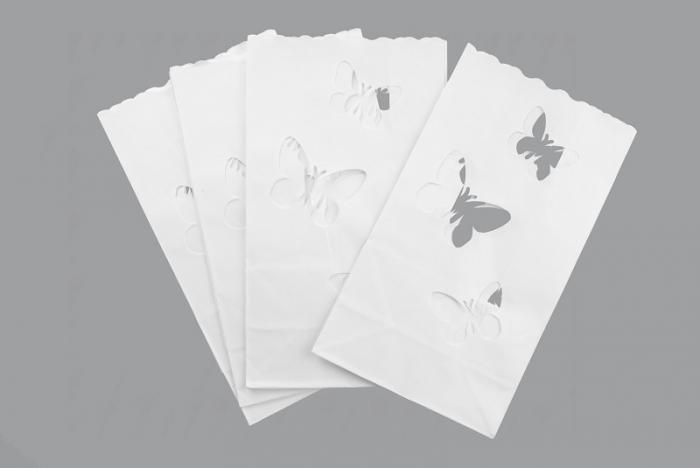 Lampioane lumanare, fluturasi, 15 x 9 x 26cm (1 pach / 10 buc) 3