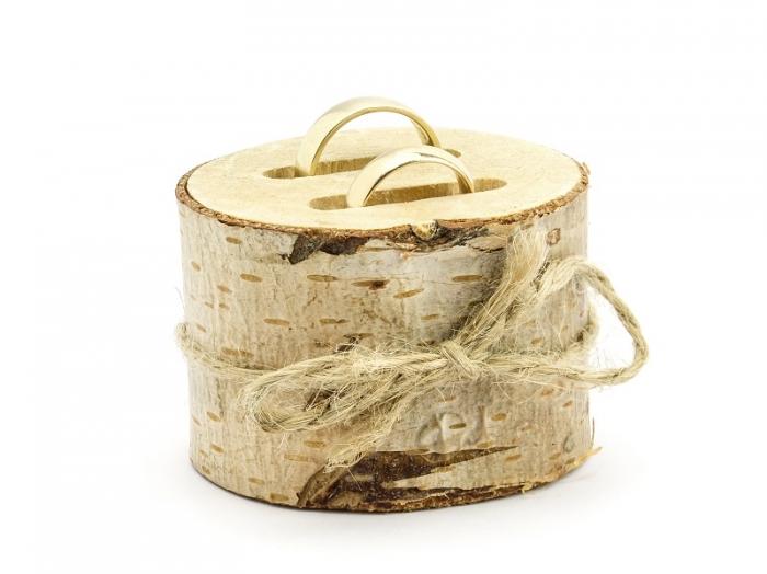 Suport verighete din lemn, 6 cm diametru 2