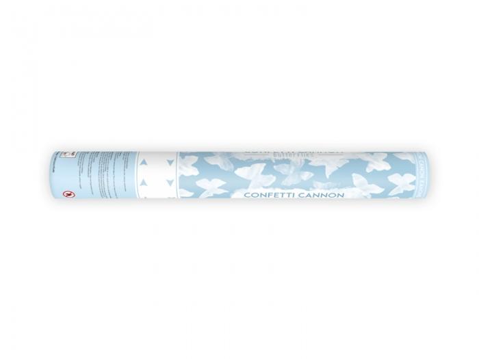 Confetti cannon cu fluturasi, alb, 40cm 2