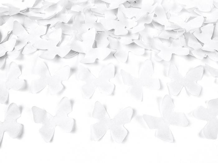 Confetti cannon cu fluturasi, alb, 40cm 3