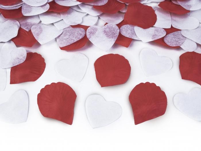 Confetti cu inimioare si petale de trandafir, 30cm 1