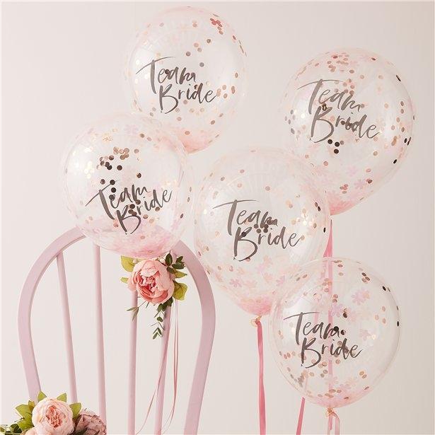 Set 5 baloane confetti Petrecerea Burlacitelor, latex 30 cm 0