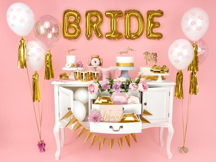 Baloane cu imprimare roz față-verso Bride to be 2