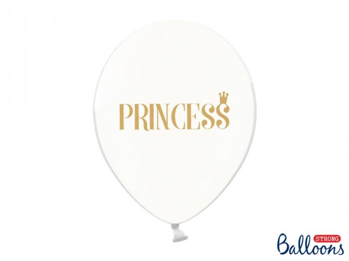 Balon transparent cu imprimare aurie față-verso Princess [0]