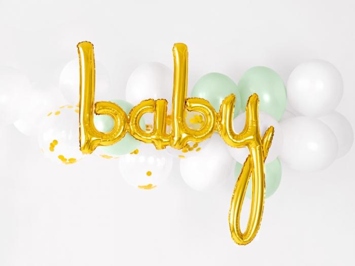Foil balloon Baby, auriu, 73.5x75.5cm 2