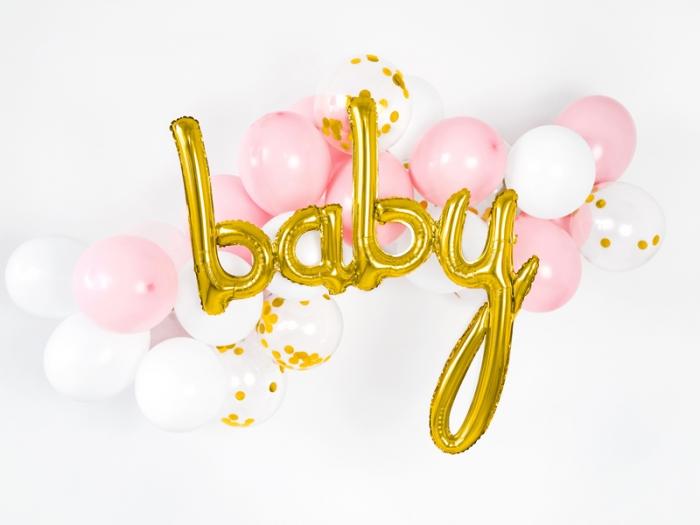 Foil balloon Baby, auriu, 73.5x75.5cm 0