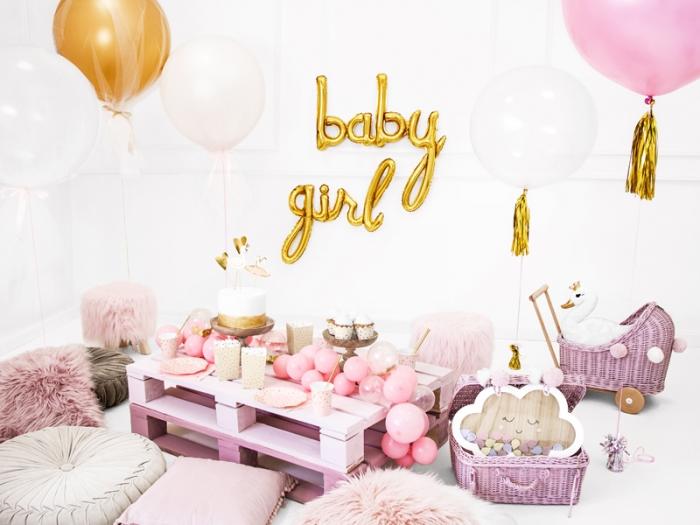 Foil balloon Baby, auriu, 73.5x75.5cm 1