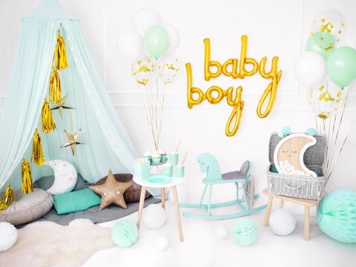 Foil balloon Baby, auriu, 73.5x75.5cm 3