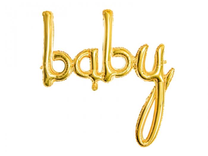 Foil balloon Baby, auriu, 73.5x75.5cm 4