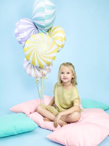 Balon folie Candy, 45cm, galben 3