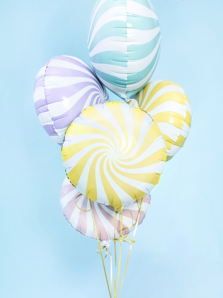 Balon folie Candy, 45cm, galben 2
