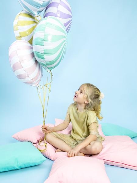 Balon folie Candy, 45cm, galben 4