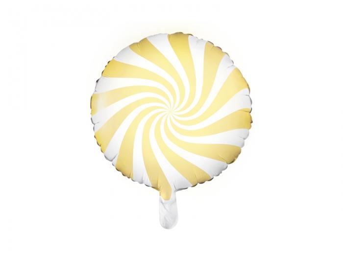 Balon folie Candy, 45cm, galben 1