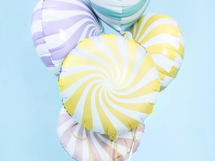 Balon folie Candy, 45cm, galben 0