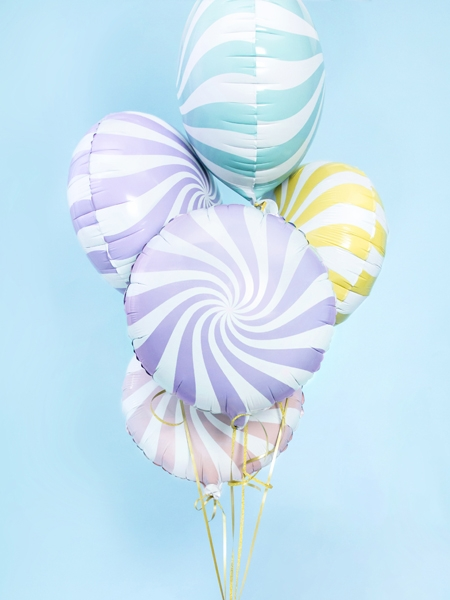 Balon folie Candy, 45cm, lila deschis 2