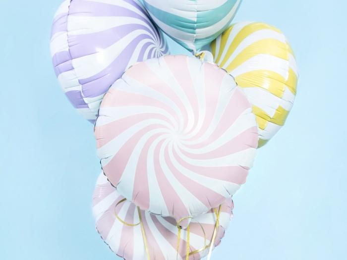 Balon folie Candy, 45cm, roz deschis 0