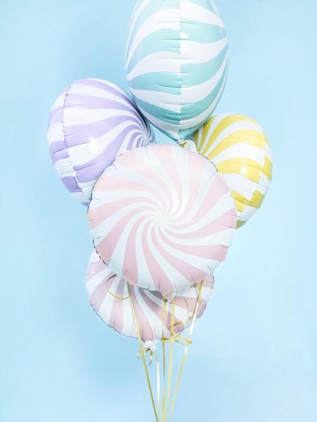 Balon folie Candy, 45cm, roz deschis 2
