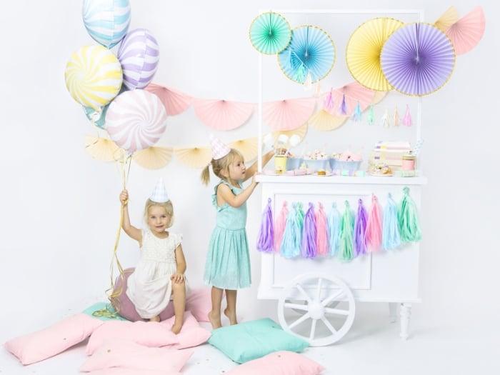 Balon folie Candy, 45cm, roz deschis 4
