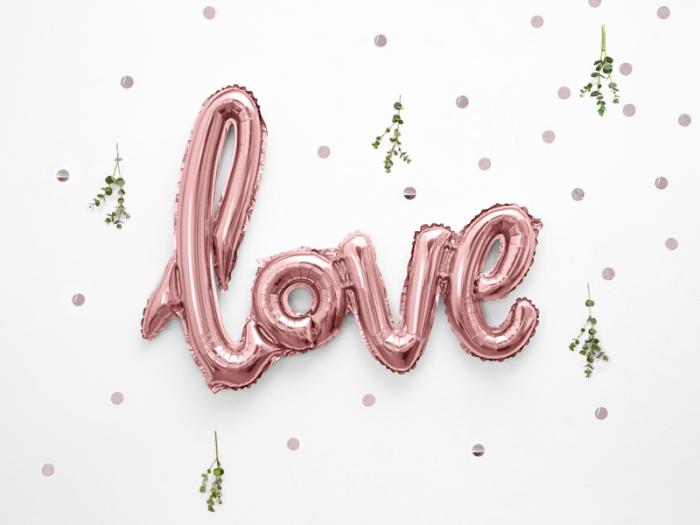 Balon folie Love, 73x59cm, rose gold 0