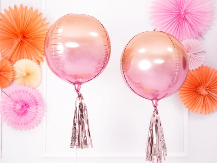Balon folie Ombre, roz&portocaliu, 35cm 0