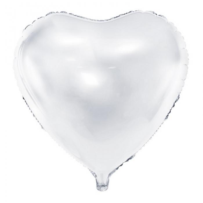 Balon Inima, culoare alb 45cm 1
