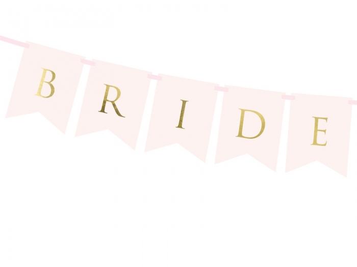 Banner Bride Groom, roz deschis, 15 x 155 cm 2