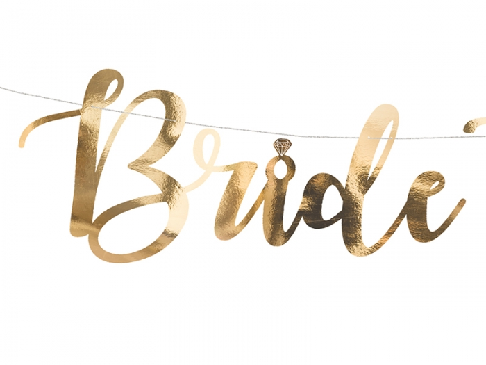 Banner Bride to be, auriu, 80x19cm 1