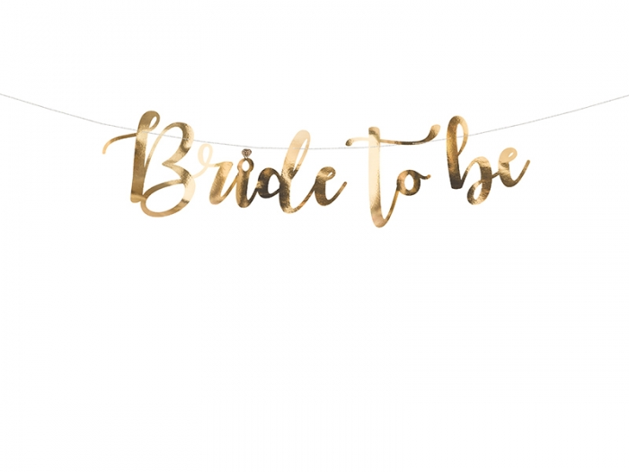 Banner Bride to be, auriu, 80x19cm 2