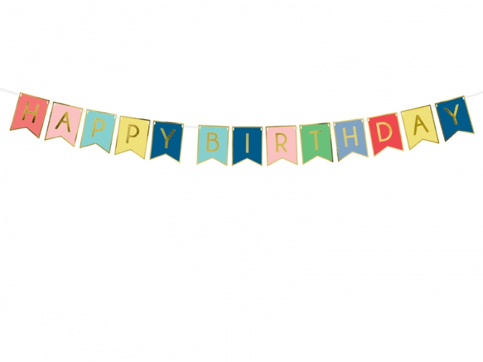 Banner Happy Birthday multicolor 1