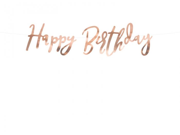 Banner Happy Birthday, rose gold, 16.5x62cm [3]