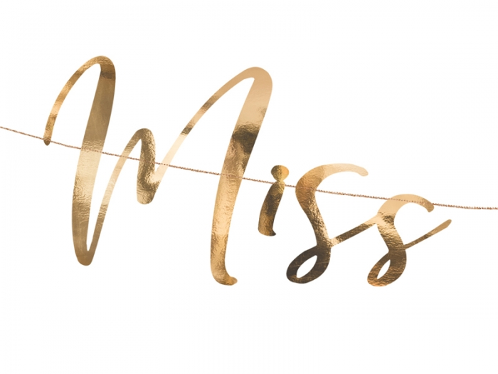 Banner Ms to Mrs. rose gold, 18x76cm 5