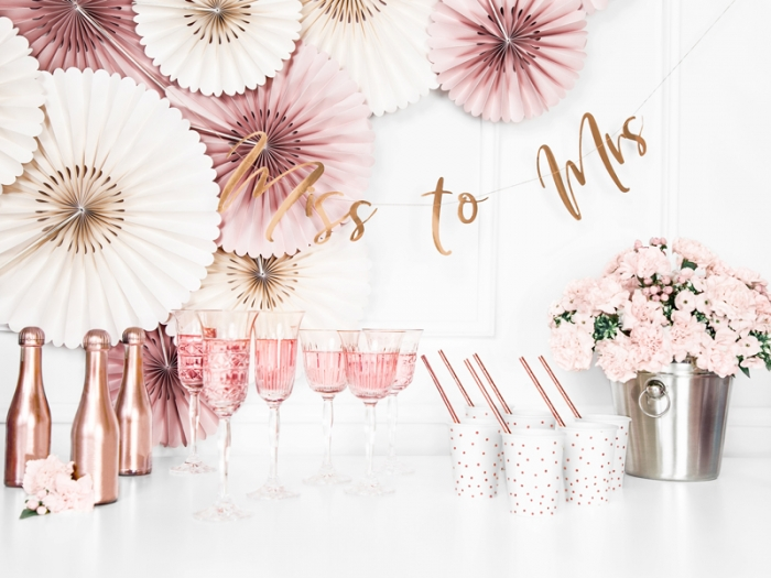 Banner Ms to Mrs. rose gold, 18x76cm 0