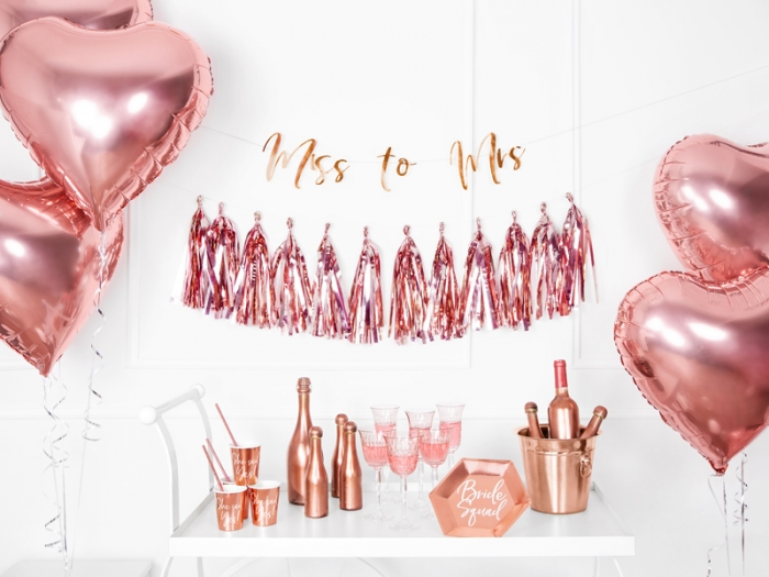 Banner Ms to Mrs. rose gold, 18x76cm 2