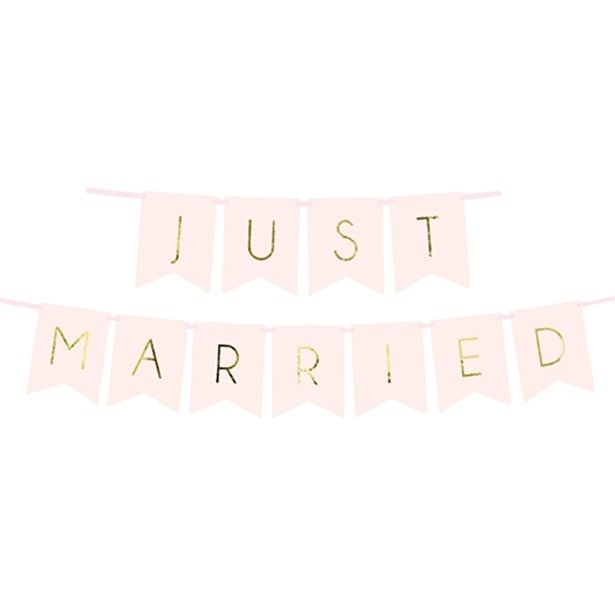 "Banner roz ""Just married"" (1.5m) 1"