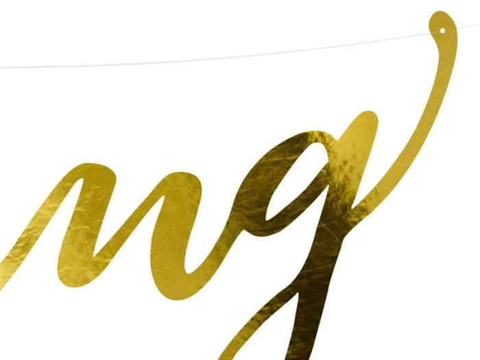 Banner Wedding, auriu, 16.5x45cm 3
