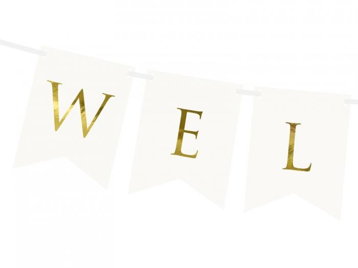 Banner Welcome (Bine ati venit), alb, 15 x 95 cm 2