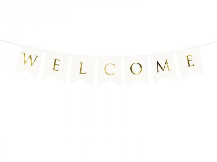 Banner Welcome (Bine ati venit), alb, 15 x 95 cm 1